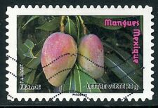 TIMBRE FRANCE AUTOADHESIF OBLITERE N° 695 / FLORE / FRUIT / MANGUES