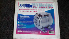SHURflo 3400-002 2 gallon pre-pressurized  accumulator tank 20psi new quantity