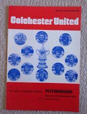 Colchester Utd v Peterborough Utd football programme, FA Cup match 24/11/73