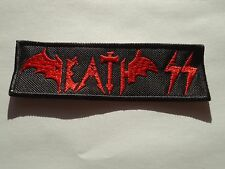 DEATH SS EMBROIDERED LOGO SPEED HEAVY METAL PATCH