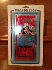 "MINI MIRROR KITCHEN WALL DECOR 4X8 ""NOTICE ANNOYING THE COOK WILL RESULT..."""