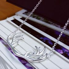 Accessories Christmas Gift Chain Deer Horn Necklace Antler Animal Pendant