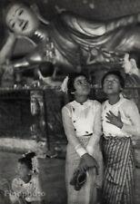 1948 Vintage HENRI CARTIER-BRESSON Burma Girls Rangoon BUDDHA Temple Art 16x20
