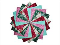 "50 4"" Quilting Fabric Squares BEAUTIFUL ASIAN FLORAL/BUY IT NOW!!!"