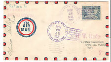 Panama M72 Variety Internal Airmail First Flight Cover Signed Pilot