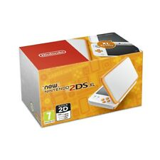 Nintendo 2ds XL Handheld Console White and Orange