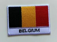 Belgium National Flag Embroidered Patch Iron on Sew On Badge For Clothes Bag