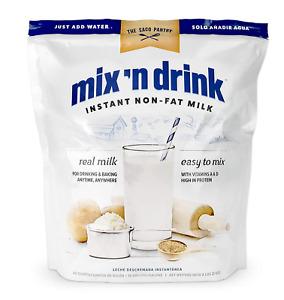 SACO Mix n Drink Instant Skim Milk, Fat-Free, GMO-Free, Gluten-Free, Nut-Fre...