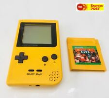 Nintendo Gameboy Pocket Yellow Handheld Console GBP Game Boy Plus Donkey Kong