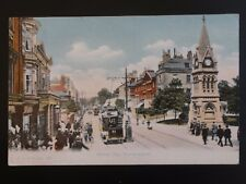 Hampshire SOUTHAMPTON Above Bar Showing TRAMS & CLOCK TOWER c1909 Old Postcard