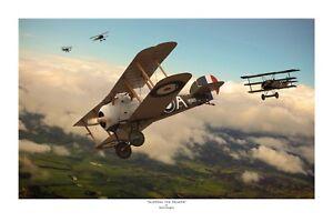 """WWI WW1 AFC RAAF RFC Ace Sopwith Snipe Fokker Aviation Art Photo Print - 12""""X18"""""""