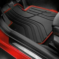 BMW GT Gran Turismo F34 Xi Rubber Floor Mats Sportline Black Red Front OEM