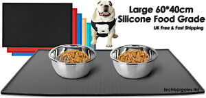 Large Pet Puppy Silicone Waterproof Feeding Food Mat Dog Non Slip Bowl Placemat