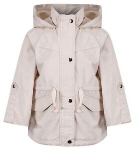 EX ZARA's Girls Baby Toddler Cream Jacket Coat Newborn to 4 Years RRP £26