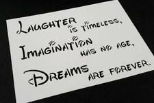 Disney Style Text Letter Stencil Laughter Is Timeless Imagination Has Wall Card
