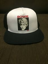 VANS DAVID BOWIE TRUCKER 80's STYLE HAT WHITE/BLACK NEW SNAP BACK