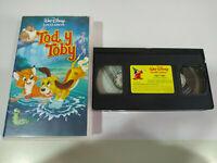 TOD Y TOBY LOS CLASICOS DE WALT DISNEY - VHS CINTA TAPE CASTELLANO