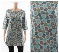 ex Se4salt Organic Cotton Diamond Pockets Sweatshirt Tunic Top