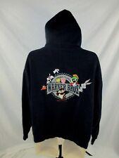 Looney Tunes  Adult Hoodie Jacket Bugs Tas Tweety Large Embellished Fleece HC12