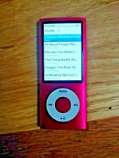Apple IPod Nano A1320 Red 5th Generation USB MP3 Player W/Songs