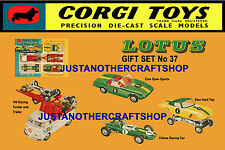 Corgi Toys GS 37 Lotus Elan Racing Team A3 Size Poster Leaflet Advert Shop Sign
