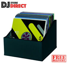 Glorious Record Box Advanced 110 LP Vinyl Record Storage Case DJ BLACK FREE P&P