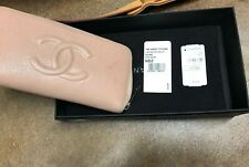 Chanel Nude Quilted Caviar Leather L-Gusset Zip Wallet Silver Hardware Pre Owned