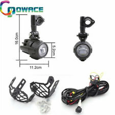 Pair LED Fog Light+Protect Guard+Wiring Replace Kit for BMW R1200GS F800GS ADV