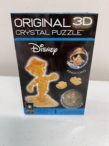 New Bepuzzled original 3D crystal puzzle gold Disney Pinocchio