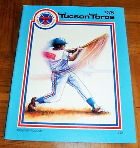 VINTAGE 1978 TUCSON TOROS PROGRAM -PACIFIC COAST LEAGUE- AFFILIATE TEXAS RANGERS