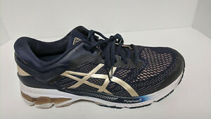 Asics Gel-Kayano 26 Running Shoes, Midnight/Frosted Almond, Women's 13 Wide