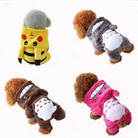 NEW Pet Clothes Dog Pikachu Totoro Sweater Hoodie Cat Coat Puppy Apparel Costume