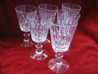 "Set of 6 HAWKES Cut Crystal Glass Water Goblets Stemware 6 1/2"" Signed"