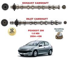 FOR PEUGEOT 206 CC + SW 1.6 HDi 2004-->ON NEW INLET & EXHAUST ENGINE CAMSHAFT