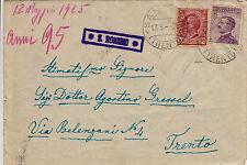 COLLETTORIE - S. ROMEDIO su busta - 10 cent+50 cent (Regno) - 13.5.1925