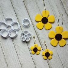 Daisy Flower Combo Set of 3 Cutters for Polymer Clay Ceramic Jewelry Craft Tool