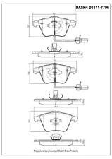 Disc Brake Pad Set-Eng Code: CALA Front Dash 4 Brake CD1111