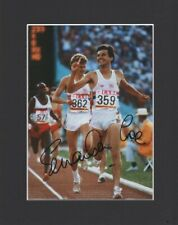 SEBASTIAN SEB COE TEAM GB OLYMPICS ORIGINAL HAND SIGNED MOUNTED AUTOGRAPH PHOTO