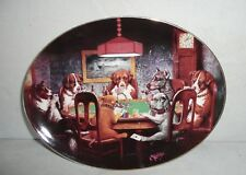 Franklin Mint - Ace  in the Hole, Limited Edition Dog Poker Collector Plate