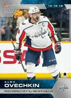 ALEX OVECHKIN 2019 TOPPS NOW NHL STICKER Week 2 Washington Capitals 4th All Time