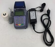 Verifone Vx510 Omni 3730 Credit Card Terminal & Power Supply Broken Bad Rtc Chip