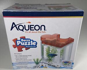 Aqueon Betta Puzzle Half Gallon Aquarium Kit RED