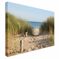 Beach Access Canvas Wall Art Picture Print