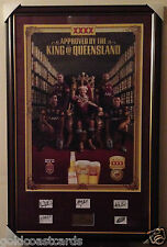 SIGNED STATE OF ORIGIN XXXX KING OF QLD FRAMED PICTURE LEWIS, PARKER, THURSTON