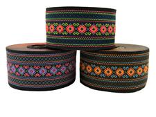 1m Borte Gewebt/Webband Aztekisch Ethno 50mm Breit (Art-Nr:50997)