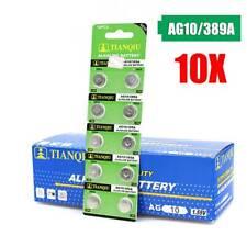 10-Pack AG10 SR1130 LR1130 389A D189 LR54 Alkaline Button Cell Coin Battery New