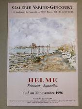 HELME Jean-Paul Affiche originale Gal. Varine-Gincourt Hyères Dieppe Toulon