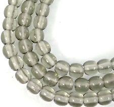 100 Czech Glass Round Beads - Black Cystal 4mm