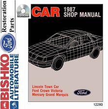 1987 Ford Crown Vic, Town Car, Grand Marquis Shop Service Repair Manual CD OEM