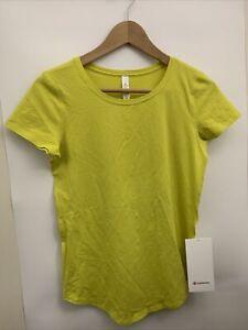 Lululemon Love Tee NWT Size 2 SOLL Soleil Yellow Pima Cotton Peru Rare SS